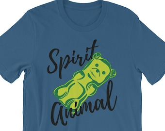 Funny Gummy Bear Spirit Animal Tee Shirt, Cute Spirit Animal Shirt, Gift for Her, Candy Lover Gift, Gummi Bear Shirt