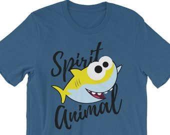 Cute Shark Spirit Animal Tee Shirt