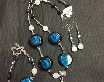 Agate and Glass in Blue