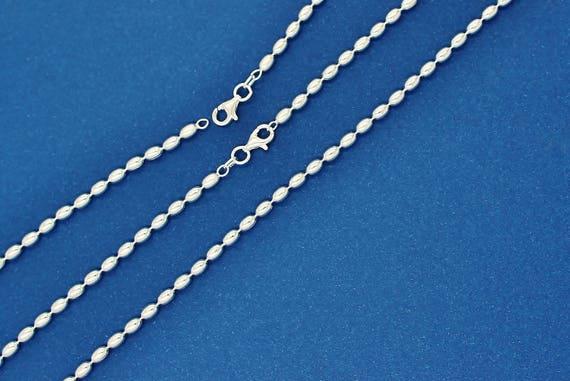 Sterling Silver Italian Fancy Chain Beaded Dangling Earrings