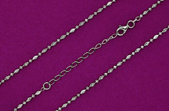 925 Sterling Silver Rhodium Plated Sparkle-Cut Rhodium Rope Chain Necklace in Silver Choice of Lengths 16 18 20 24 22 30 and Variety of mm Options