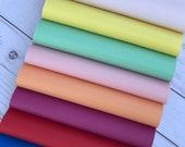Faux leather sheets, leather sheets faux leather bow supplies craft supplies. Leather sheets. Royal blue. Red. Peach. Yellow. Spa. K368-9 photo