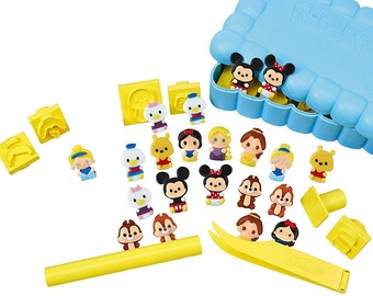 Pucclay Disney Craft Character DX Set Clay From Japan Kids Mickey Mouse Minnie Mascots Original Bandai Stamp