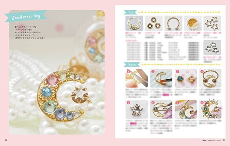 Japanese Craft Book UV Resin Making Yume Kawaii Cocotte Making with Resin Handmade Accessories modeling jewelry craft set -