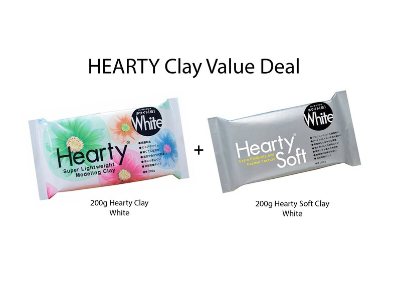 PADICO Japanese Hearty White 200g Super Light Weight Modeling Clay From JAPAN