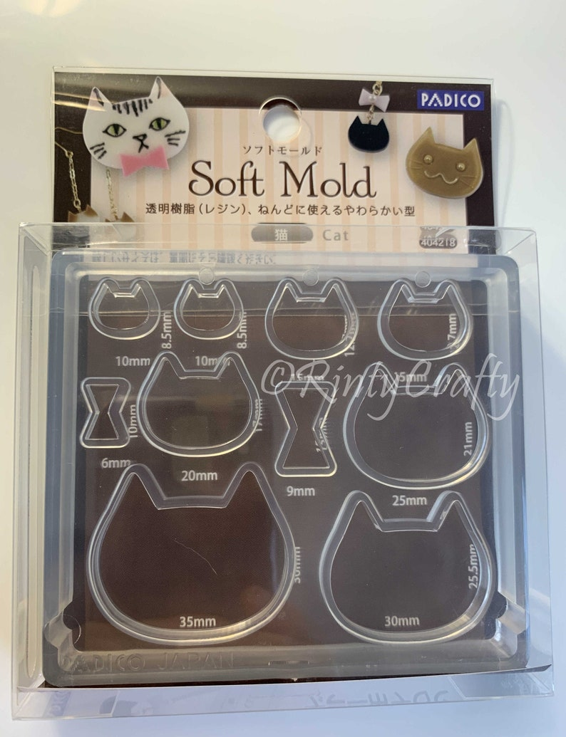 Padico Silicone Cat Mold Meow Mold Cute Cat Kitty Mold for Polymer Clay,  Resin Clay, UV Resin From Japan