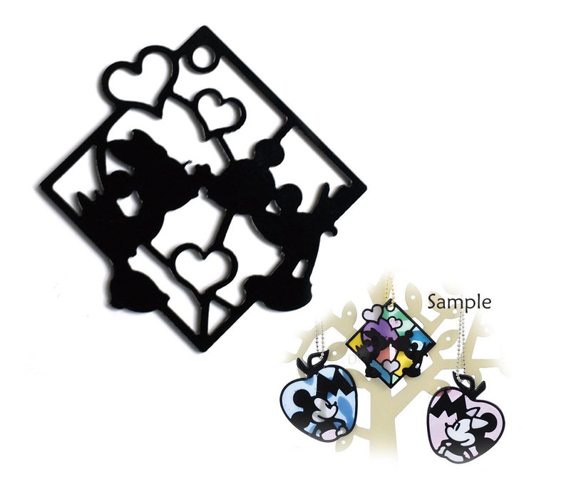 e7b34027d211 Craft Parts Bezel Disney Mickey and Minnie Love Square