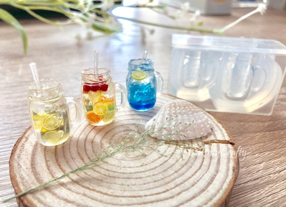 for UV Resin Silicone Mold 3D Mason Jar Glass Mold High Quality Silicone Made in Japan Epoxy