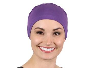 cecd49e3a26 Serena Cotton Sleep Cap for Chemo Headwear Turquoise