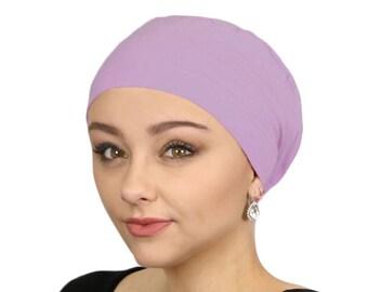 f0633d96855 Serena Cotton Sleep Cap for Chemo Headwear Lavender