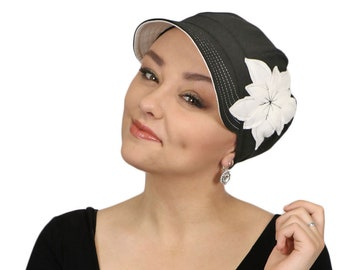 b6563f73306 Whimsy Chemo Hat for Women Cancer Headwear Cotton Cute Baseball Hat Black  Casablanca