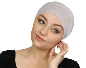 dd8fe50a5ba Serena Cotton Sleep Cap for Chemo Headwear Heather Grey