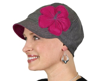 Whimsy Chemo Hat for Women Cancer Headwear Headcoverings Cotton Cute Baseball Hats Walk in the Park
