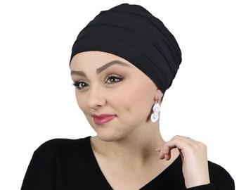 Bamboo Chemo Cap 3 Seam Turban & Sleep Cap For Cancer Headwear