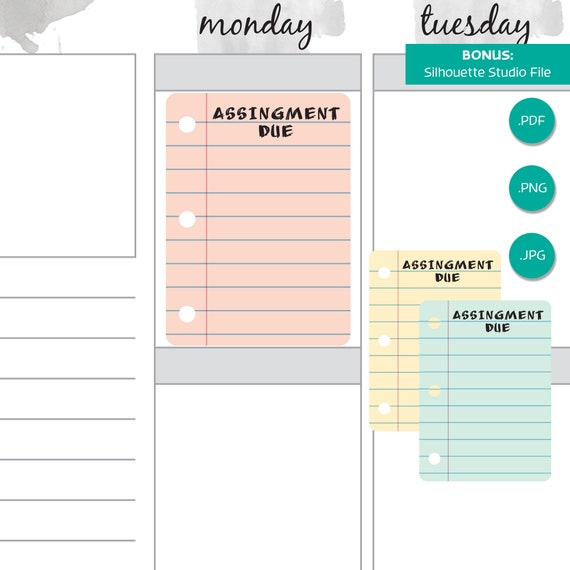 It is a photo of Printable Homework Planner with printout