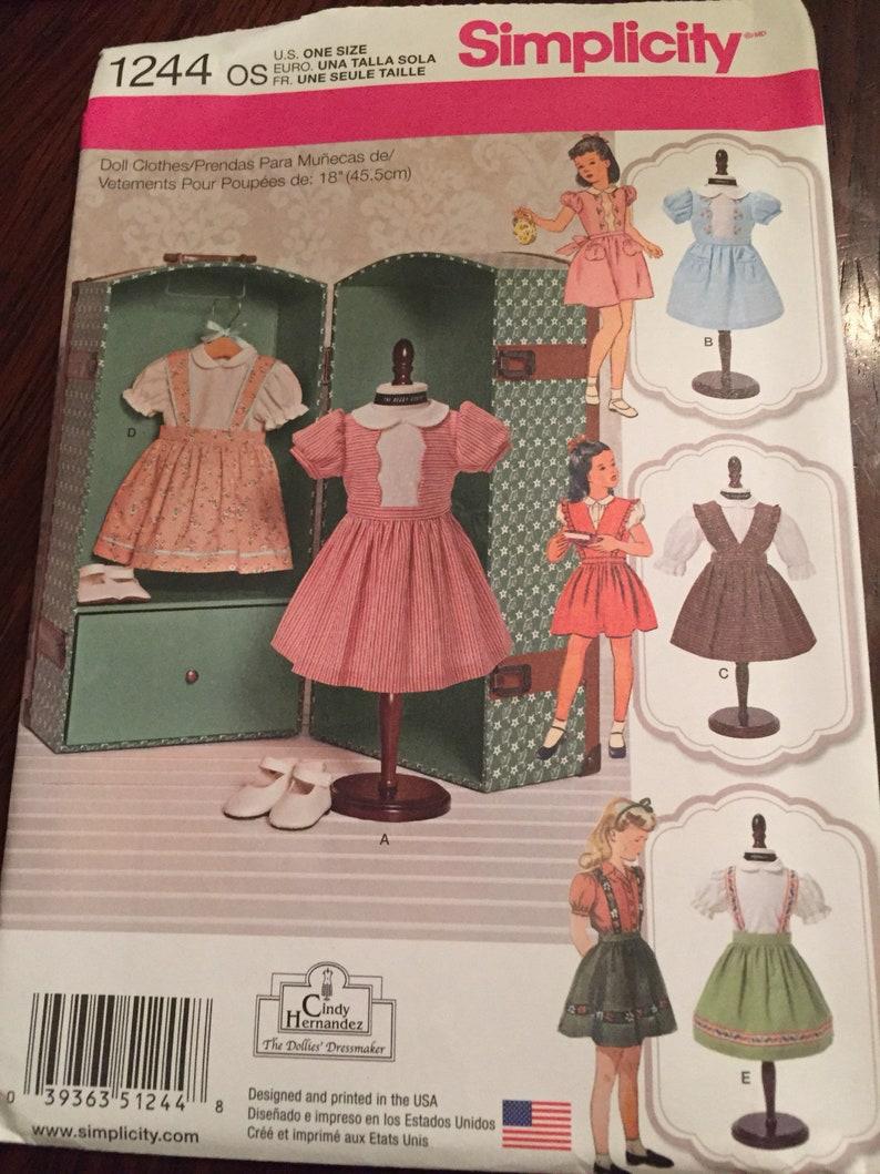 Simplicity 1244 Little Girl Dress Pattern - Sewing Pattern Easy Sewing  Pattern - Pattern