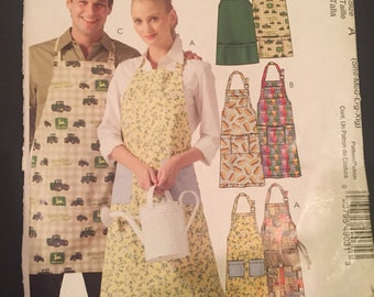 Easy stitch 'n save M4904 by McCall's Sizes Sml-Med-Lrg-Xlg Aprons