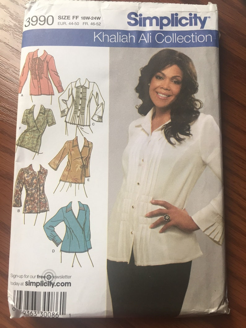 Simplicity 3990 Woman Shirts Classic Fit, Sewing Pattern Easy Sewing  Pattern - Pattern