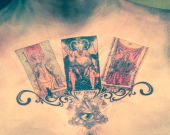 Fortune teller, tarot card,demon, witch
