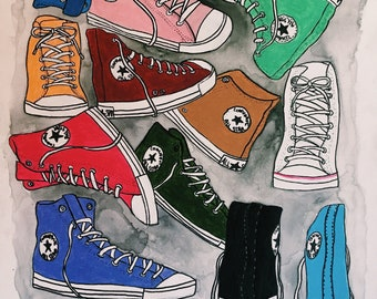 Converse colorful collage