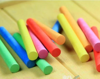 6 Coloured and 6 White Chalks, Boxed