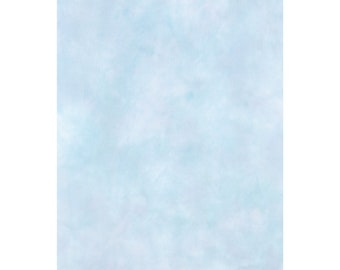 15 x 21 Hand-Dyed OPALESCENT Aida Cross Stitch Fabric 18 count in Shades of Light Blues and Greens Item #AO18-11