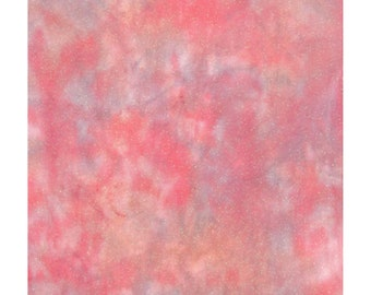 Item #AO18-10 Hand-Dyed OPALESCENT Aida Cross Stitch Fabric 18 count in Shades of Medium Aqua Blues and Salmon Red 13.5 x 18.5