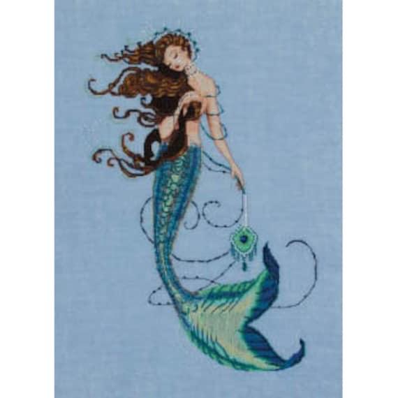 10/% Off Nora Corbett//Mirabilia Counted X-stitch Chart-Mermaids of the Deep Blue