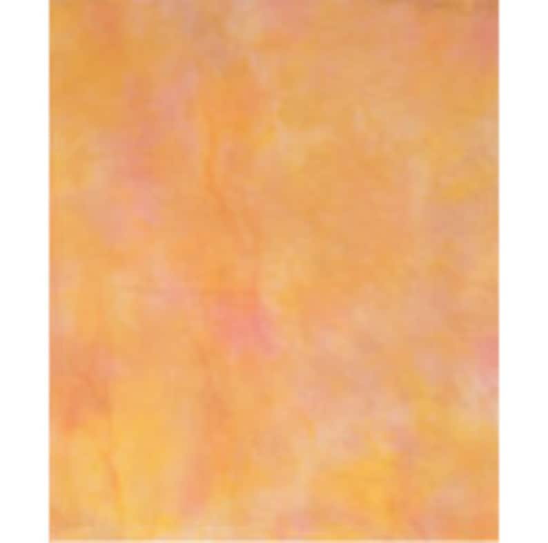 Hand-dyed Cross Stitch Fabric 18 count Aida in Shades of Orange and Pink,  11 5