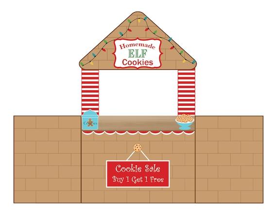 Elf Cookie Stand Printable Elf Christmas Props Elf Cookie