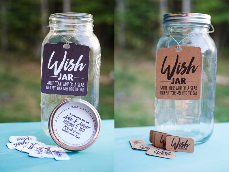 DIY Wish Jar Kit Personalized For Weddings Birthdays