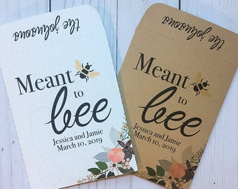 Seed Packets Wedding Favors Gifts meant to bee Personalized Envelopes - Rustic Kraft, DIY, Bridal Shower, Baby, Seeds