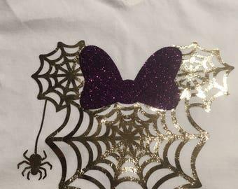 Halloween Spider Web Minnie Shirt