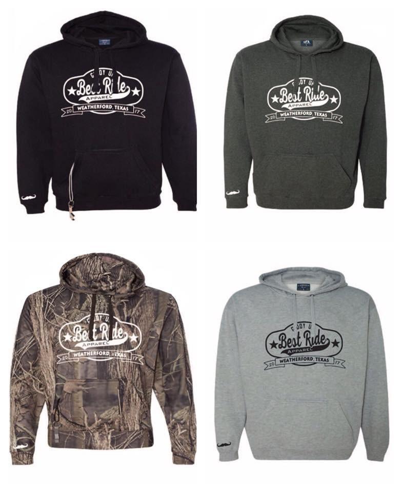 Tailgate Poly Fleece Hooded Pullover Sweatshirt America 8615 Men/'s Camo J