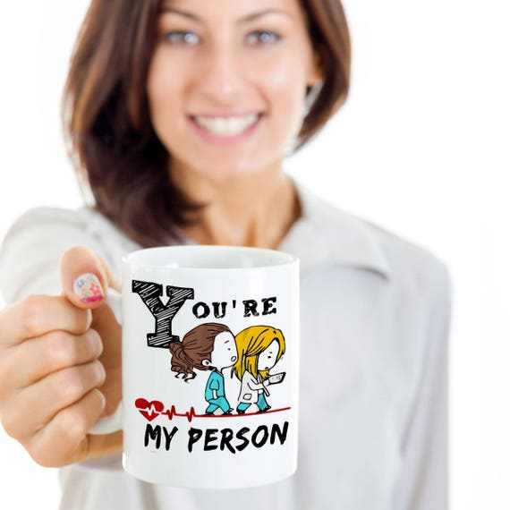 Eres mi persona taza taza de anatomía de greys es grises | Etsy