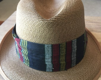 48e228630e70d8 Vintage Fifth Avenue of New York Straw Fedora- Size 7 1/8