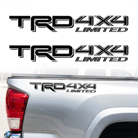 Set of 2 Toyota Tacoma Tailgate Letters Matte Black Vinyl Decals 2016 17 18 19