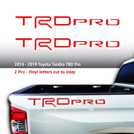 Premium Vinyl Decal Radio Insert Decals for 2014-2019 Toyota Tundra