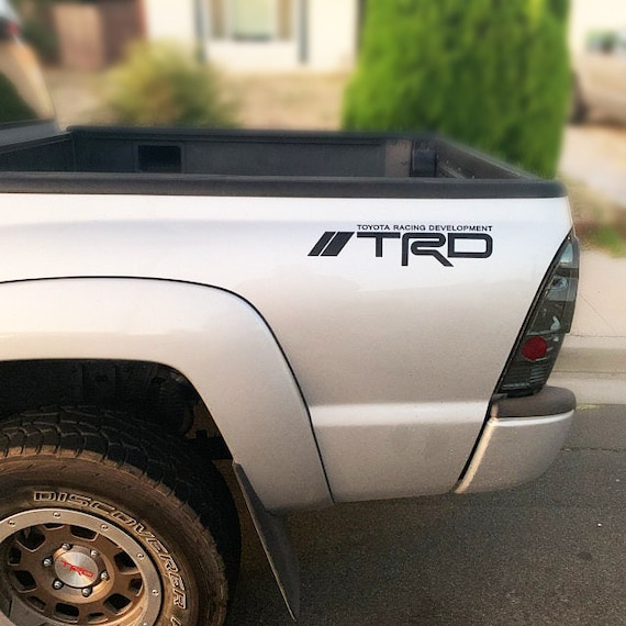 """11/"""" x 46/"""" Pair TRD Off Road Truck Bed Stripes,Fits Toyota Truck Custom Decals"""