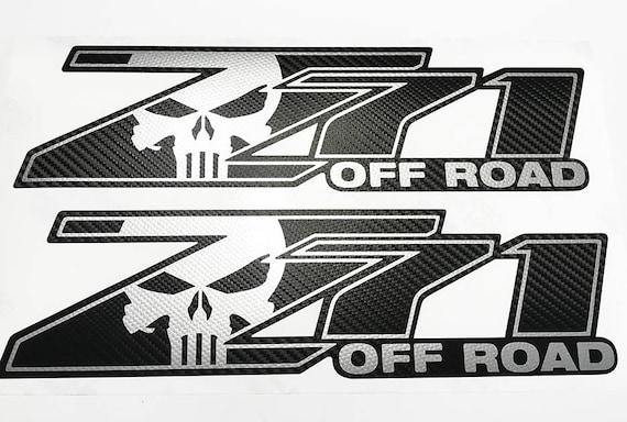 2pcs Red Z71 OFF ROAD Chevrolet Emblem Decal Badge Sierra Suburban Silverado