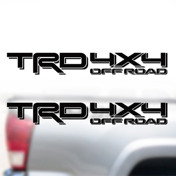 Toyota TRD OFF ROAD New Gray Red Black Decals Vinyl Stickers Graphics Letters Side Pickup Tacoma 4X4 Truck Auto Car Compatible Design Use For