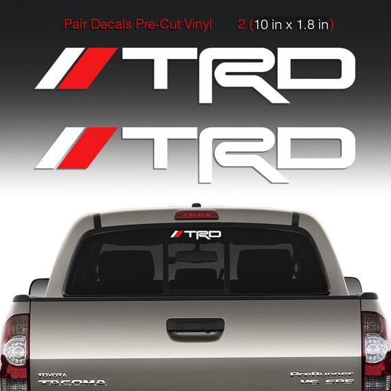 TRD Sticker Decal Windshield Rear Mirror Window Toyota Tacoma
