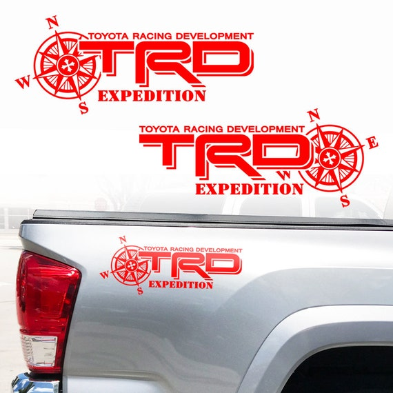 Toyota SR5 4X4 Off Road Racing Tacoma Tundra Truck Bed Pair Decal Sticker Decals