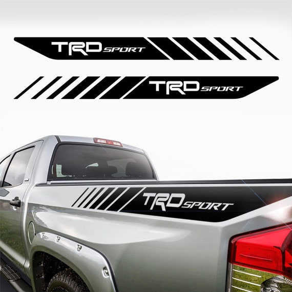 TRD SPORT Toyota Tacoma Tundra Decals Sticker Truck bedside decal vinyl cut 2Pc