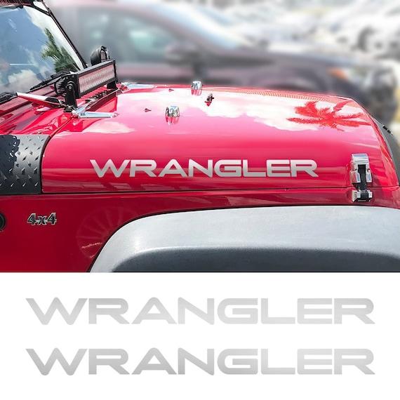 WRANGLER Jeep Hood Decals Stickers Fender CJ YJ TJ JK JKU Decal Set Vinyl 2B
