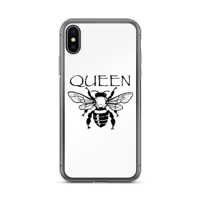 new arrival 5da6b 781a6 Queen Bee iPhone 6/6s, 6/6s Plus, 7/8, 7/8 Plus, X Case w/ Black Logo, GRL  PWR, Girl Power, Feminist Beyonce, Celebrity, Rihanna