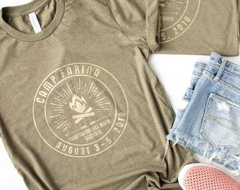 Bachelorette Party Camping T Shirt, Camp Bachelorette Shirts, Girls Weekend Matching Shirts, Camp T Shirt, Outdoor Vacation, Campfire Event