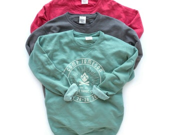 Camp Bachelorette Party Sweatshirt, Camping Girls Weekend Bachelorette Matching Shirt, Camp Tee, Vacation Pullover Crew Neck, Comfort Colors