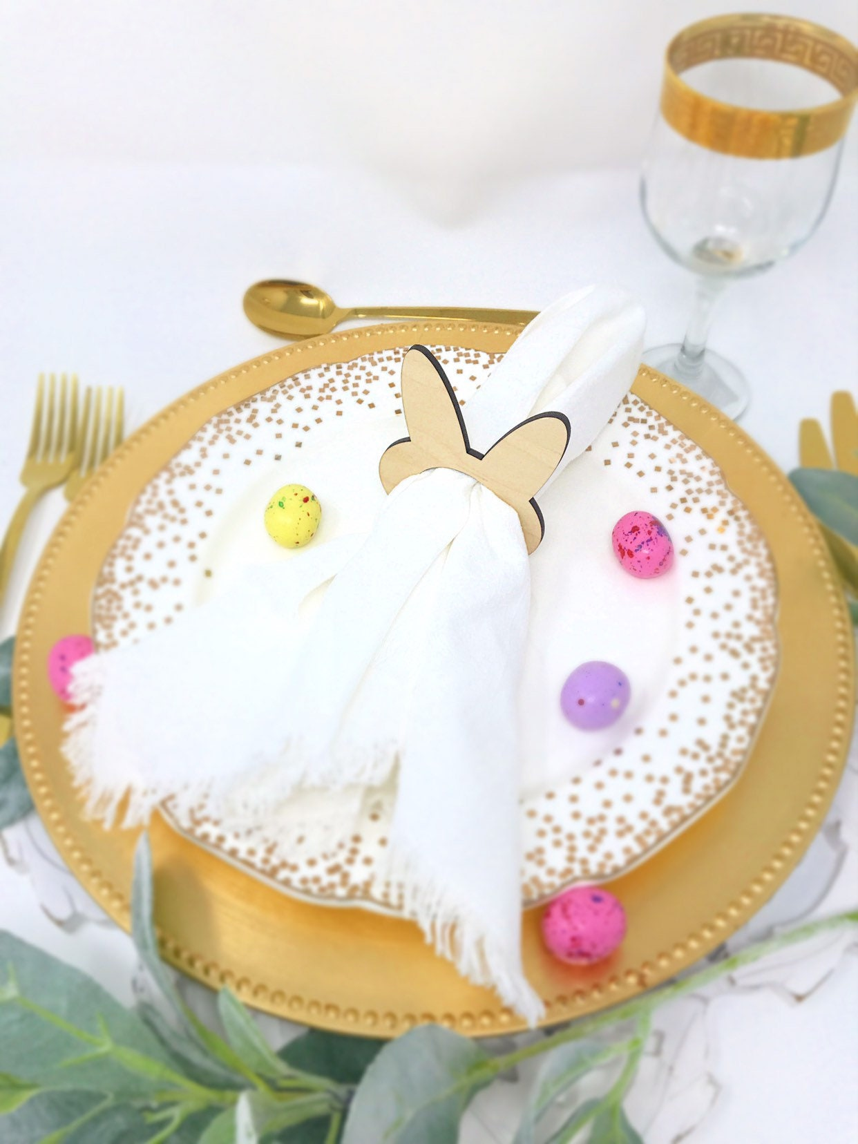 Personalized Easter Bunny Napkin Rings Bunny Party Decor