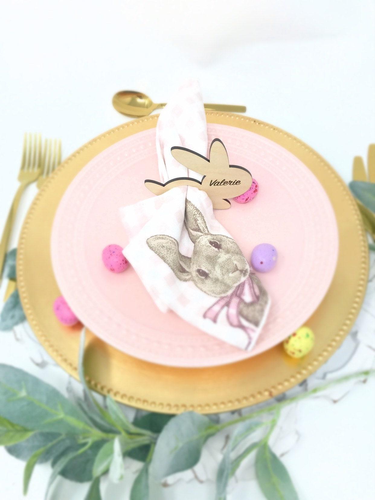 Easter Bunny Napkin Rings Rabbit Napkin Rings For Easter